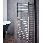 Verona Stride Designer Heated Towel Rail 1200mm H x 600mm W - Chrome
