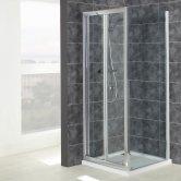Verona Uno Bi-Fold Shower Door 700mm Wide - 6mm Glass