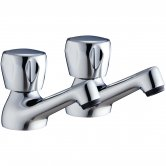 Verona Utility Basin Taps Pair Chrome