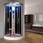 Vidalux Essence Quadrant Steam Shower Cabin 800mm x 800mm - Midnight Black