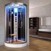Vidalux Essence Quadrant Steam Shower Cabin 800mm x 800mm - Ocean Mirror