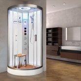 Vidalux Essence Quadrant Steam Shower Cabin 800mm x 800mm - Crystal White