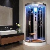 Vidalux Hydro Plus Quadrant Shower Cabin 800mm x 800mm - Ocean Mirror