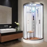 Vidalux Hydro Plus Quadrant Shower Cabin 800mm x 800mm - Crystal White