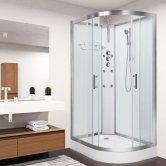 Vidalux Pure Offset Quadrant Shower Cabin 1200mm x 800mm Left Handed - Crystal White