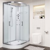 Vidalux Pure Offset Quadrant Shower Cabin 1200mm x 800mm Right Handed - Crystal White