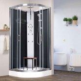 Vidalux Pure Quadrant Shower Cabin 800mm x 800mm - Midnight Black