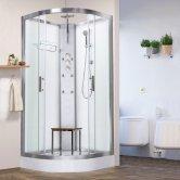 Vidalux Pure Quadrant Shower Cabin 900mm x 900mm - Crystal White
