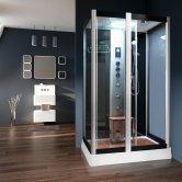 Vidalux Serenity Rectangular Steam Shower Cabin 1200mm x 900mm - Midnight Black
