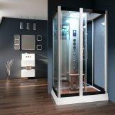 Vidalux Serenity Rectangular Steam Shower Cabin 1200mm x 900mm - Ocean Mirror