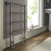 Vogue Ballerina BJ Traditional Heated Towel Rail 850mm H x 600mm W Central Heating