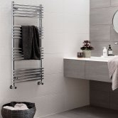 Vogue Melody Heated Towel Rail 1738mm H x 500mm W Central Heating