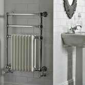 Vogue Regency Traditional Radiator Heated Towel Rail 825mm H x 500mm W Central Heating