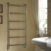 Vogue Vivid Traditional Heated Towel Rail 1250mm H x 500mm W Central Heating