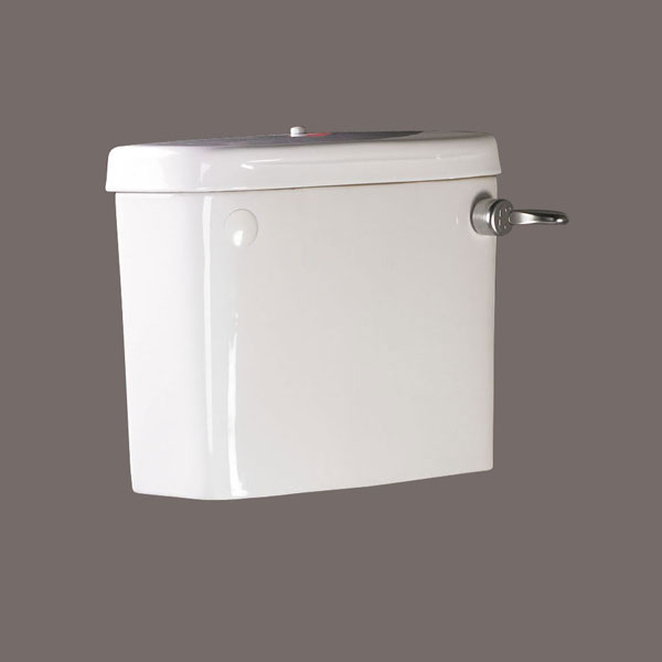AKW Close Coupled Cistern with Screw Down Lid including Flush Handle