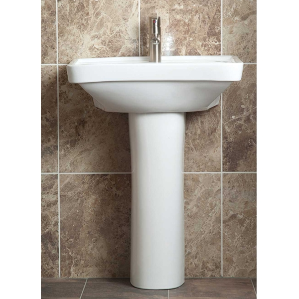 AKW Ergonomic Concave Washbasin Full Pedestal