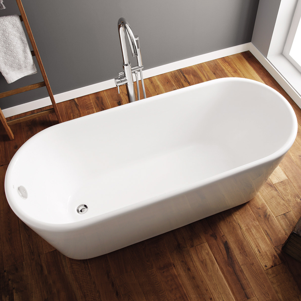 April Brearton Modern Freestanding Bath 1500mm x 700mm - Acrylic