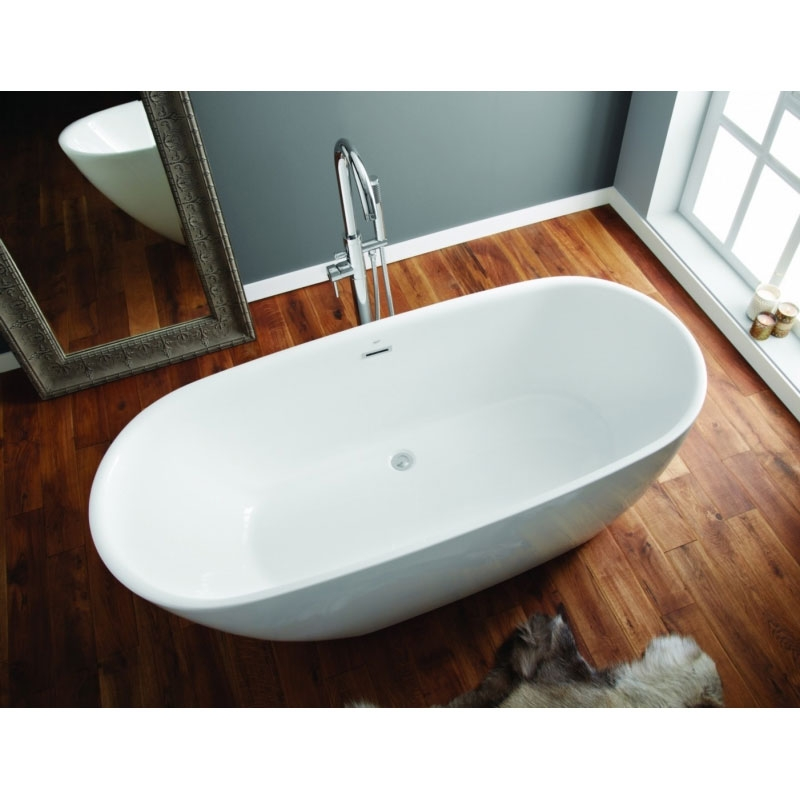 April Danby Modern Freestanding Bath 1740mm x 820mm - Acrylic-0