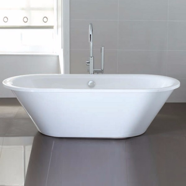April Haworth Skirted Traditional Freestanding Bath 1800mm x 800mm - Acrylic-1