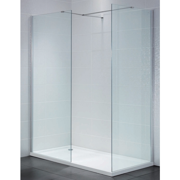April Identiti2 Wet Room Glass Panel 800mm Wide 8mm Glass