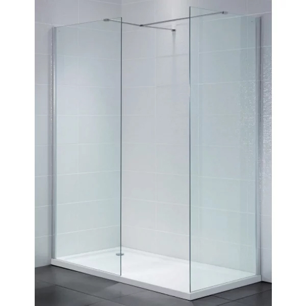 April Identiti2 Wet Room Glass Panel 500mm Wide 8mm Glass