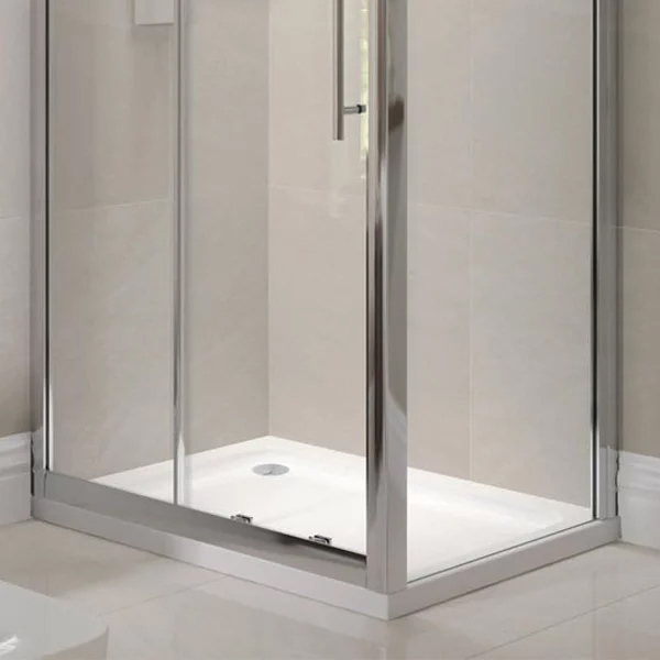 April Cavalier Waifer Rectangular Shower Tray 1400mm x 800mm Stone Resin-0