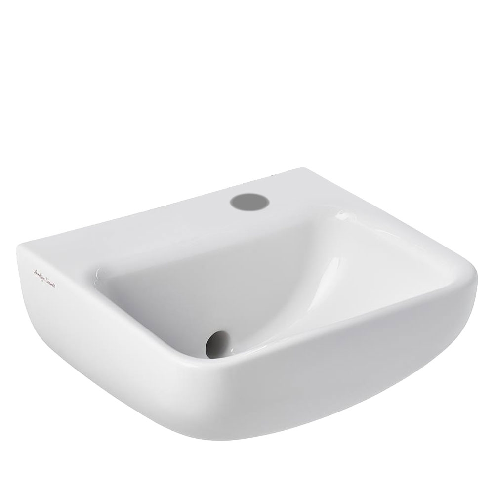 Armitage Shanks Contour 21 Plus Basin with Back Outlet 400mm Wide - 1 RH Tap Hole