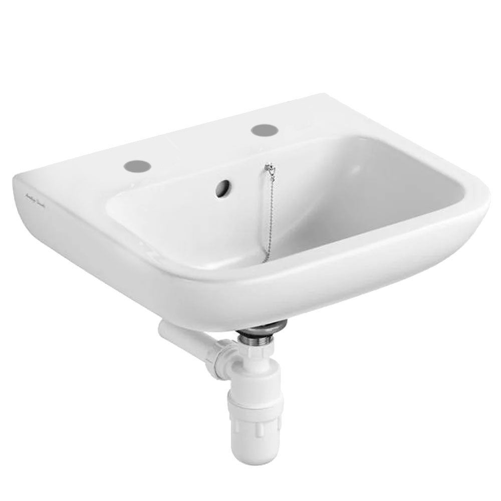 Armitage Shanks Contour 21 Basin with Overflow and Chain Hole 500mm Wide - 2 Tap Hole