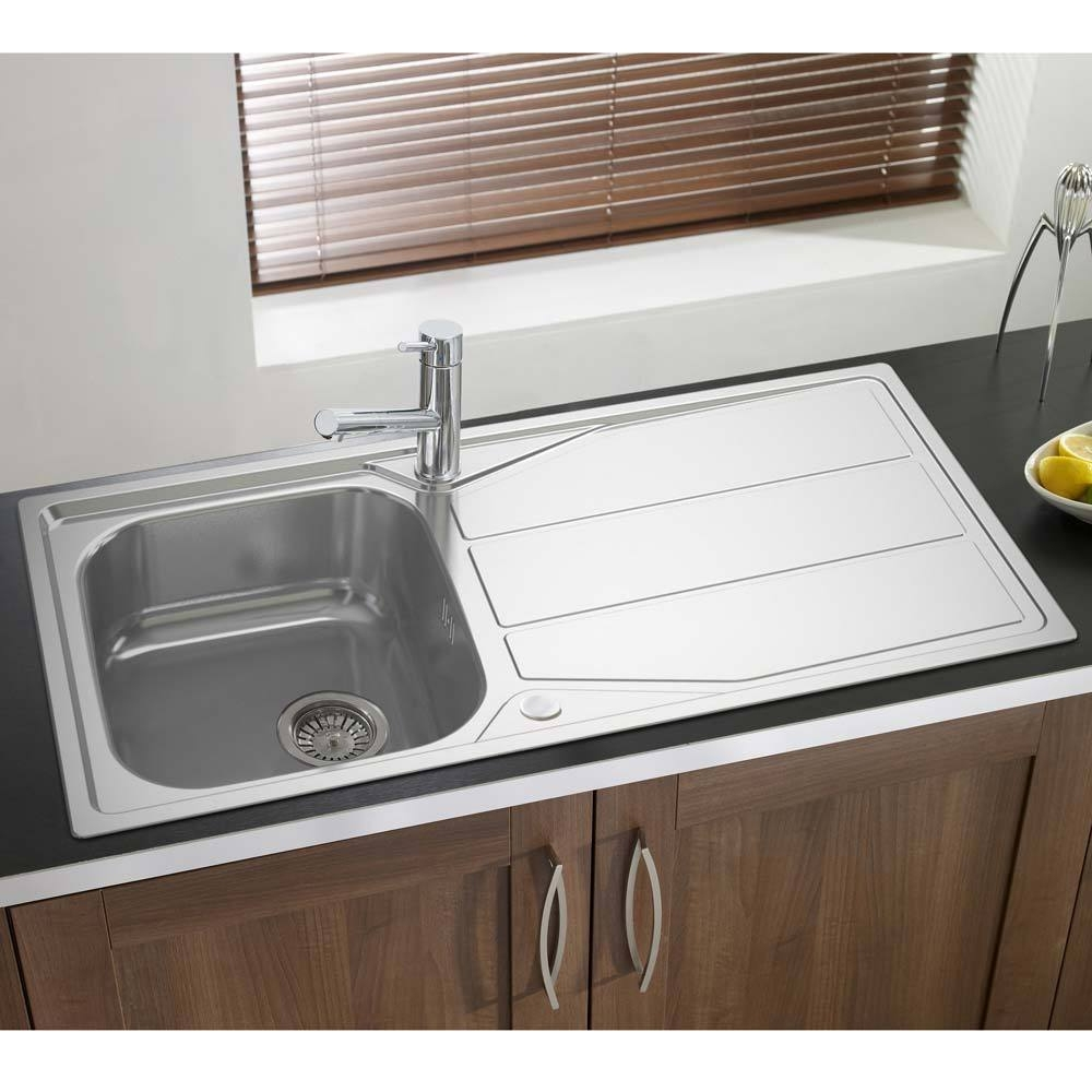 Astracast Elan 1.0 Bowl Stainless Steel Inset Kitchen Sink Reversible-0