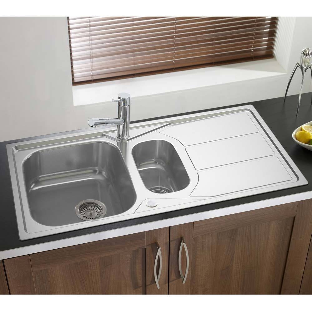 Astracast Elan 1.5 Bowl Stainless Steel Inset Kitchen Sink Reversible