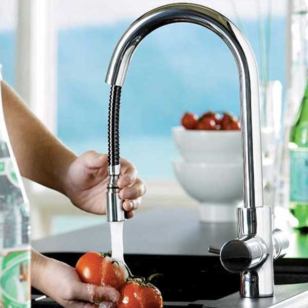 Astracast Shannon Pull Out Spray Monobloc Kitchen Sink Mixer Tap - Brushed Chrome