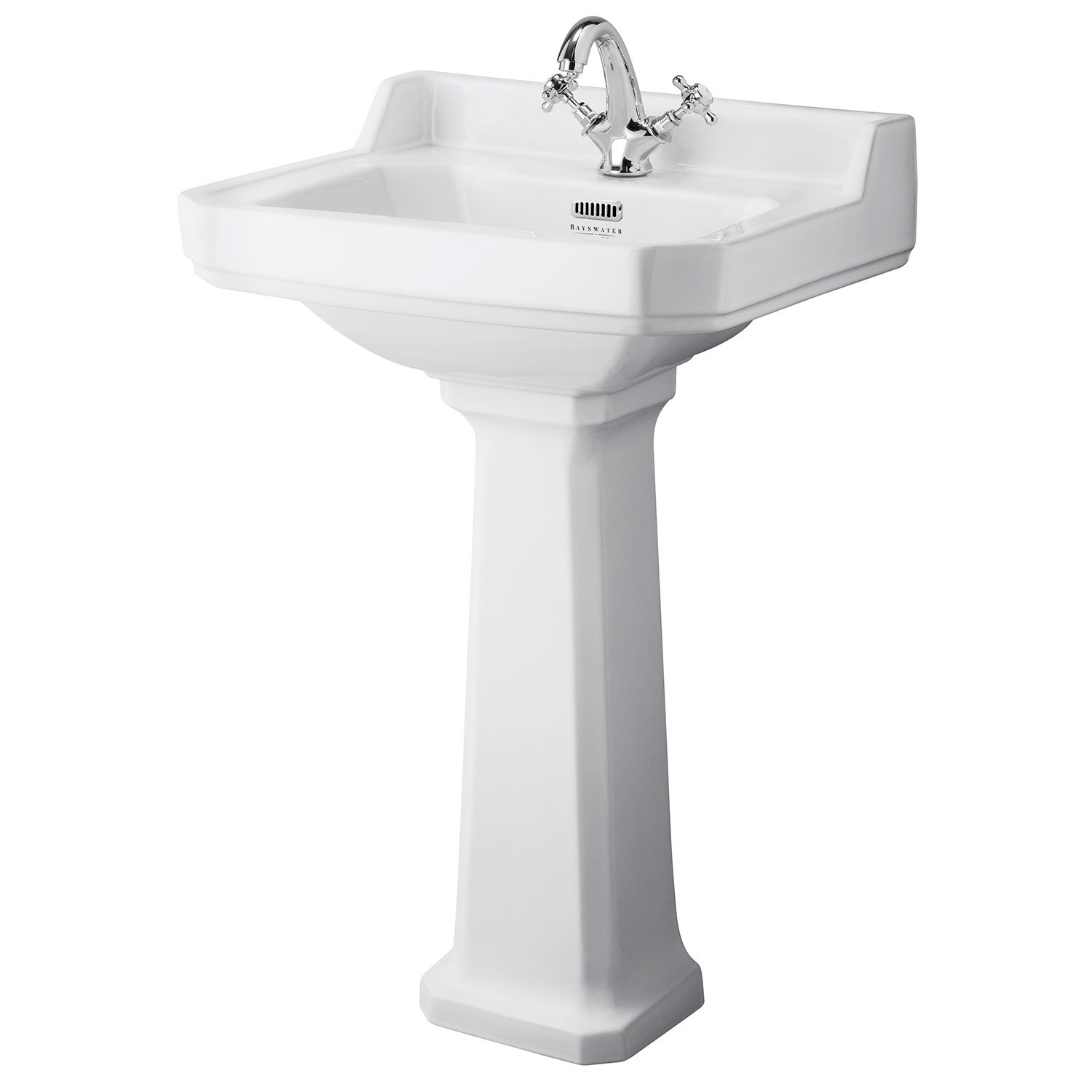 Bayswater Fitzroy Basin with Large Full Pedestal 560mm Wide 1 Tap Hole