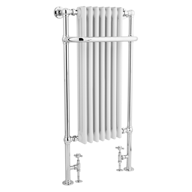 Bayswater Wesley Radiator Towel Rail 1130mm High x 553mm Wide White/Chrome