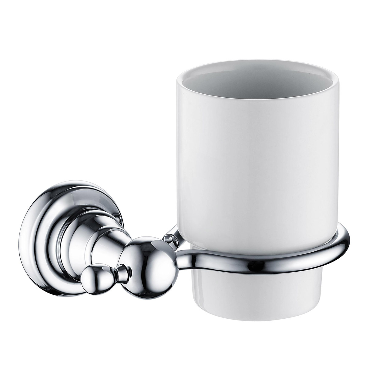 Bristan 1901 Tumbler & Brass Holder, Chrome Plated
