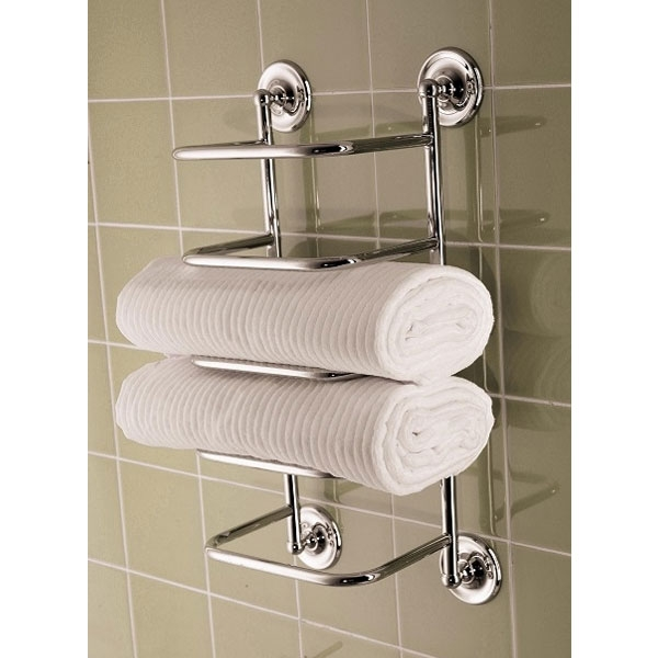 Bristan Bathroom Towel Stacker - Chrome