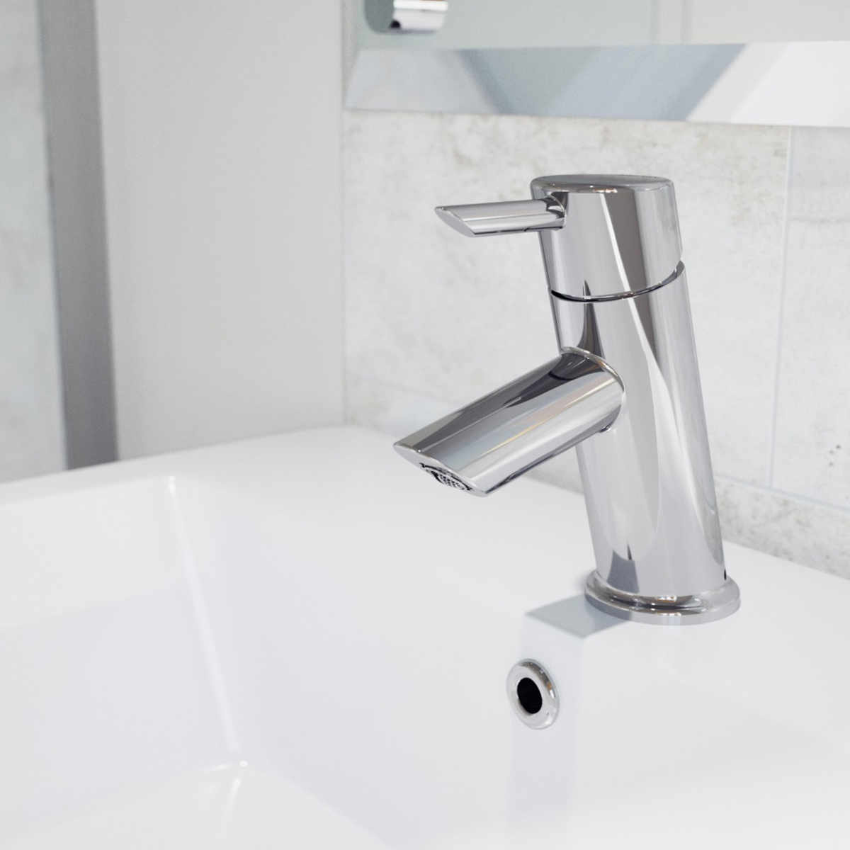 Bristan Acute Basin Mixer Tap without Waste - Chrome