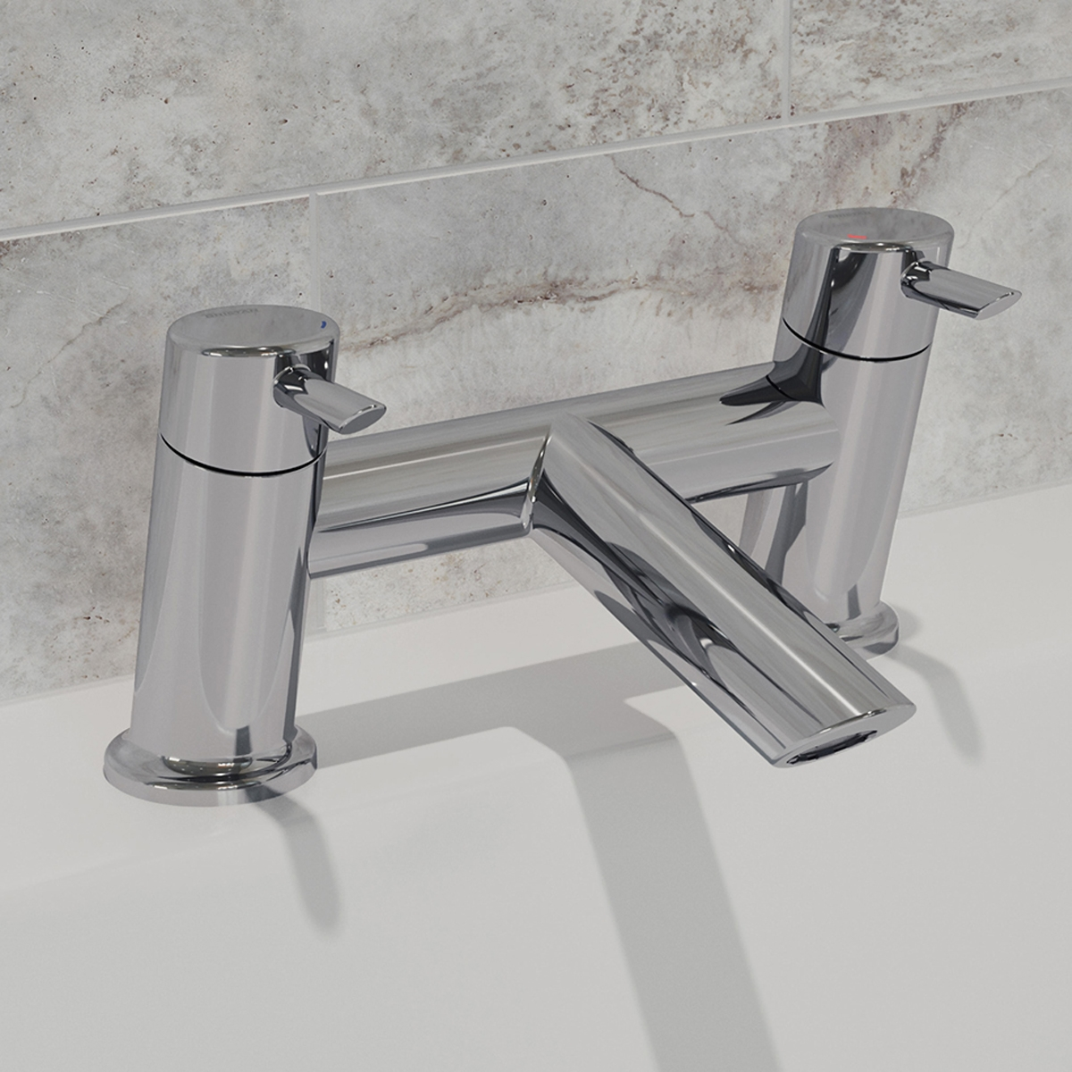 Bristan Acute Bath Filler Tap Pillar Mounted - Chrome