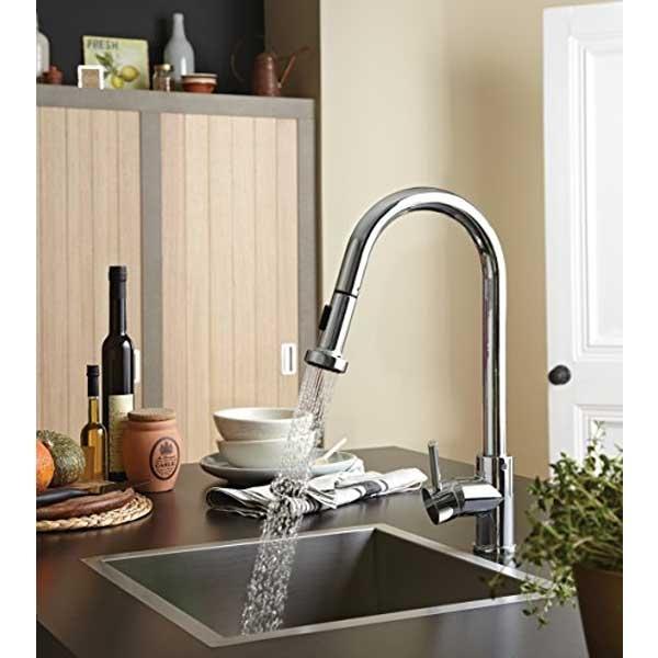 Bristan Apricot Mono Kitchen Sink Mixer Tap, Pull-Out Spray, Chrome-0