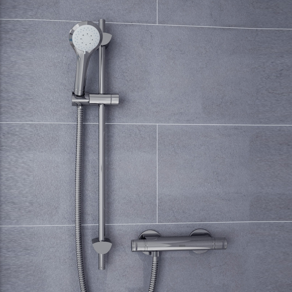 Bristan Artisan FastFit Bar Mixer Shower with Single Mode Shower Kit