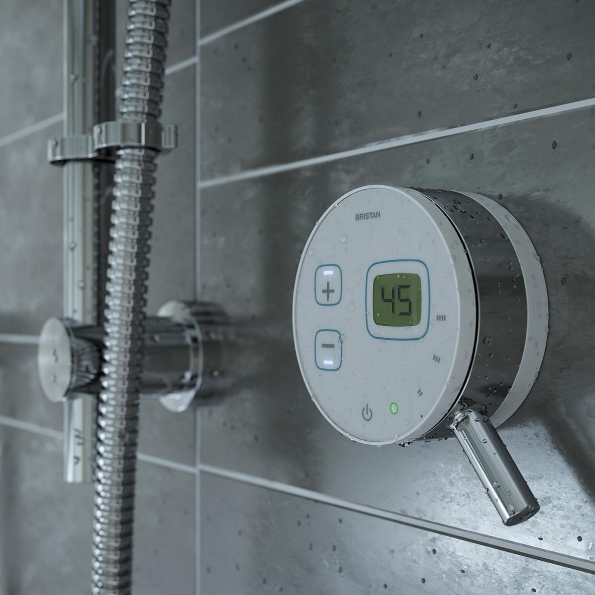Bristan Artisan Evo Digital Mixer Shower with Shower Kit - White/Chrome-0