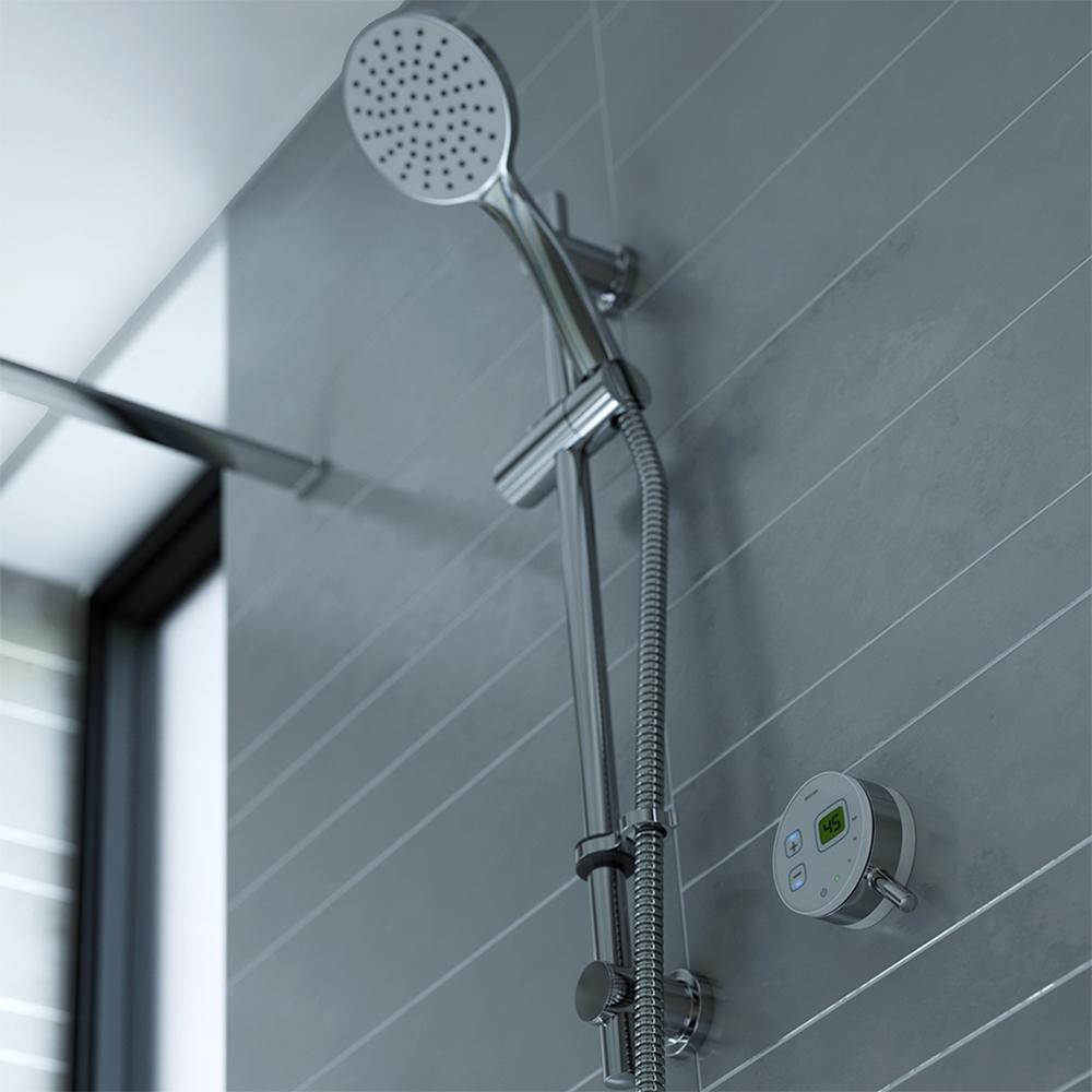 Bristan Artisan Evo Digital Mixer Shower with Shower Kit - White/Chrome