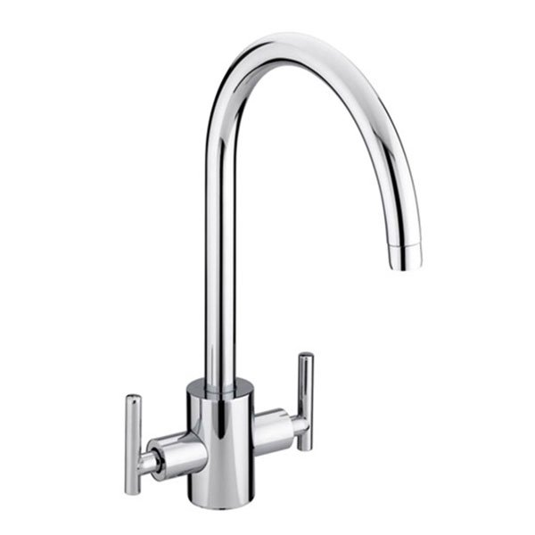 Bristan Artisan EasyFit Kitchen Sink Mixer Tap Dual Handle - Chrome