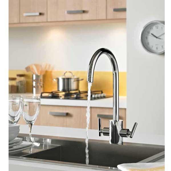 Bristan Artisan Filter Mono Kitchen Sink Mixer Tap Dual Handle - Chrome-0