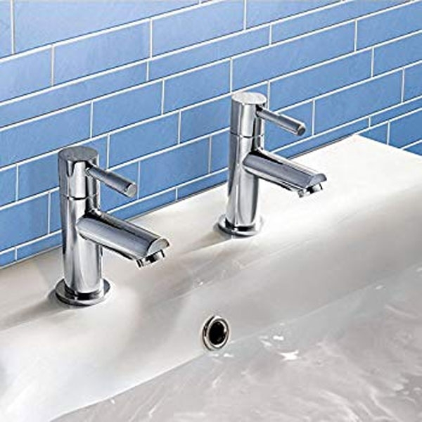 Bristan Blitz Basin Taps, Pair, Chrome