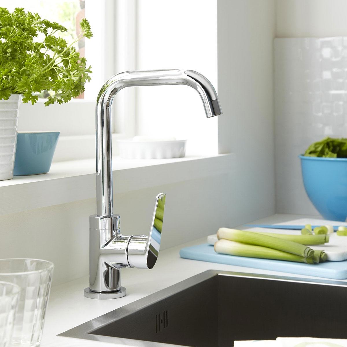 Bristan Blueberry Mono Kitchen Sink Mixer Tap Single Handle - Chrome