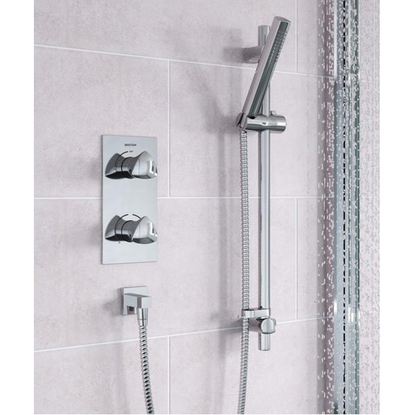 Bristan Bright Dual Concealed Mixer Shower with Shower Kit + Fixed Head