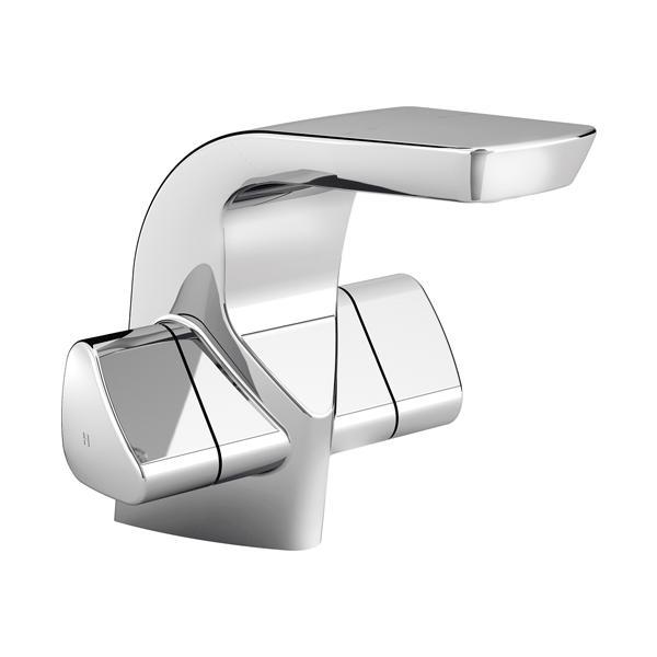 Bristan Bright Mono Basin Mixer Tap Deck Mounted with Clicker Waste - Chrome