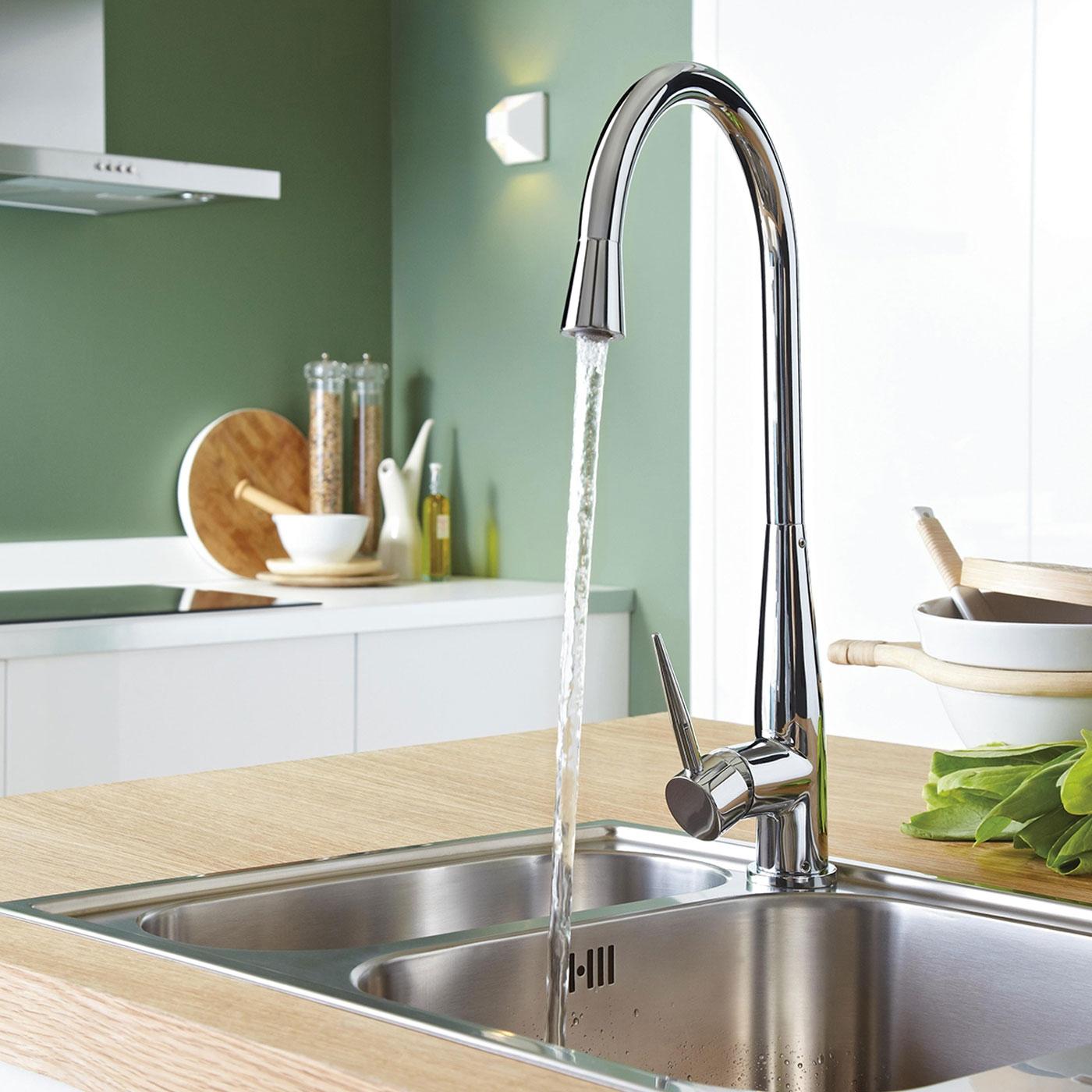 Bristan Champagne EasyFit Mono Kitchen Sink Mixer Tap, Single Handle, Chrome-0