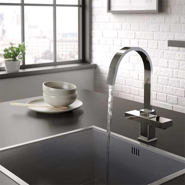 Bristan Chocolate EasyFit Mono Kitchen Sink Mixer Tap - Chrome