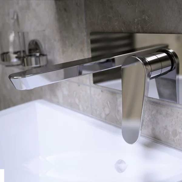 Bristan Claret Basin Mixer Tap, Wall Mounted, White